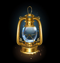 Kerosene lantern vector