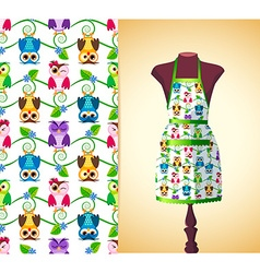 kitchen apron on a dummy2 vector image