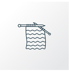 knitting icon line symbol premium quality vector image