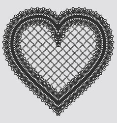 lace element in the form of heart vector image