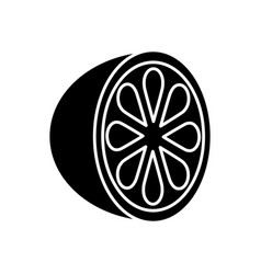 Lemon slice icon vector
