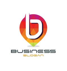 letter b point logo vector image