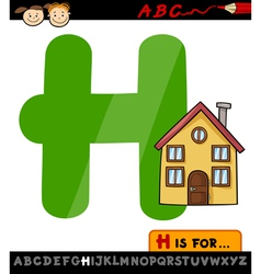 letter h with house cartoon vector image