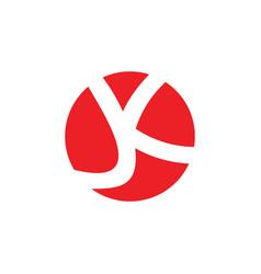 letter jk linked negatives space logo vector image