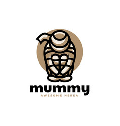 Logo mummy simple mascot style vector