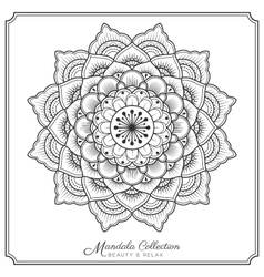 Mandala decorative ornament design for coloring vector