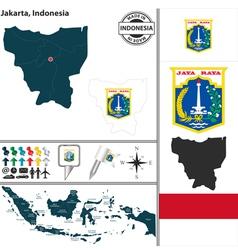 Map of Jakarta vector