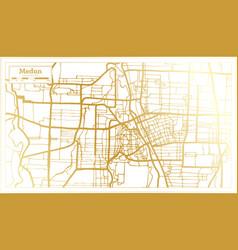 Medan indonesia city map in retro style in golden vector