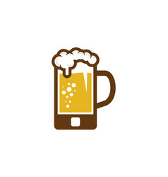 mobile beer logo icon design vector image