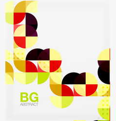 Modern elegant geometric circles abstract vector
