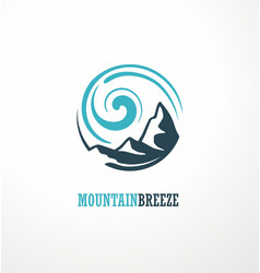 mountain logo design idea with mountain shape and vector image