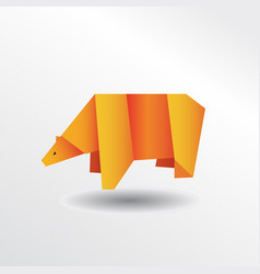 Origami bear vector