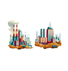 Power plant or station cartoon vector