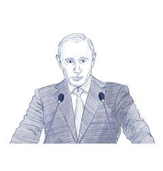 President Vladimir Putin vector