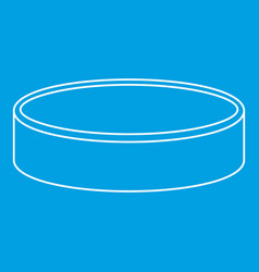 Puck for playing ice hockey icon outline style vector