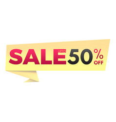 sale up to 50 off banner vector image