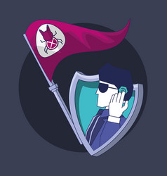 Security agent with flag bug data privacy vector