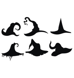 set hats witches collection headdresses vector image