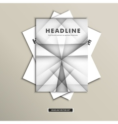 Set of brochures with simple lines on covers vector