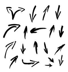 set of grunge arrows vector image