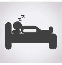 Sleep icon bed icon hotel icon vector