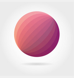 smooth color gradient icon logo vector image