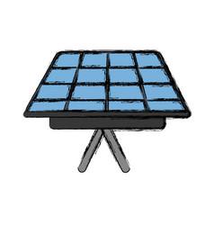 solar panel icon vector image