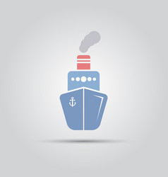 steamship isolated flat icon vector image