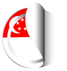 Sticker design for singapore flag vector