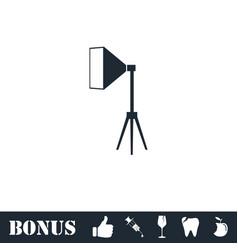 Studio lighting icon flat vector