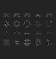 Sunburst logos starburst icons sun burst with vector