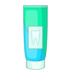 Toothpaste icon cartoon style vector