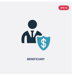 Two color beneficiary icon from insurance concept vector