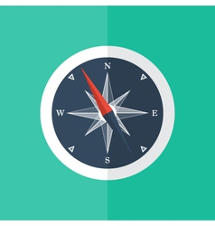 White compass circle icon vector image