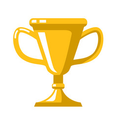 winner cups in flat style design element for logo vector image