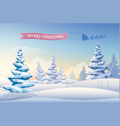 winter landscape light background vector image