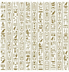 Ancient egyptian writing vector