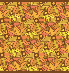 autumn seamless pattern season colors orange vector image