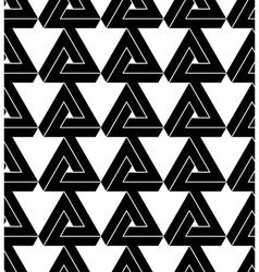 Black and white triangle abstract geometric vector image vector image