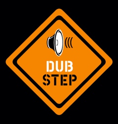 dubstep sign vector image vector image
