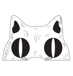 vintage cat mask vector image