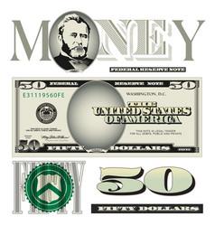 money 50 Dollars vector image