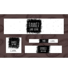 Set of white Web Banners Templates hand drawn vector image