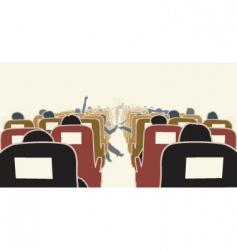 airplane interior vector image vector image