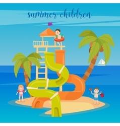 Water Park Summer Vacation Children vector image