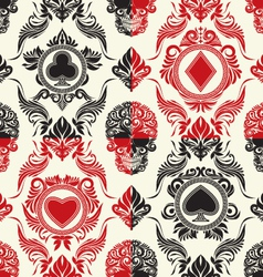 Playing Card Pattern Set vector image vector image