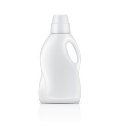 White bottle for liquid laundry detergent vector image