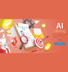 3d conceptual ai hiring vector