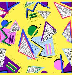80s memphis pattern vector