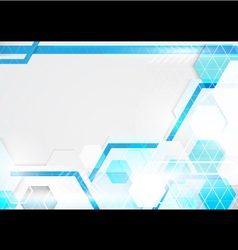 Abstract technology blue and white background vector image